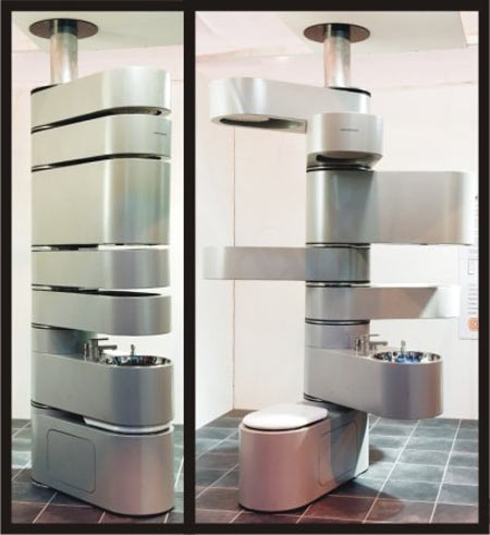 Vertebrae Vertical Bathroom System Costs $20k