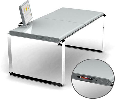 Hi-Tech XYZ Computer Desk Offers Mac Virtual Appeal