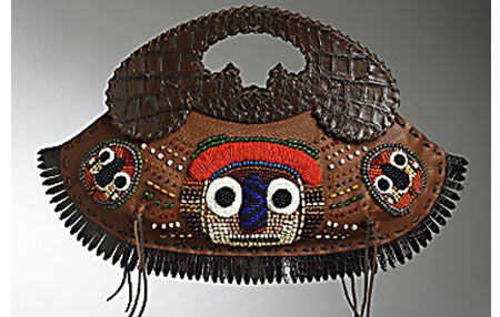 African Mask Handbag
