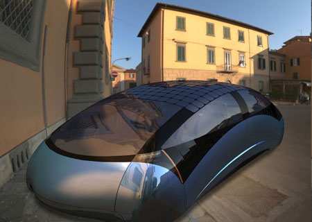 Antro Solo 150 mpg Solar Car: Gas-Electric Hybrid Archetype