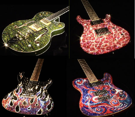 Precious Rebels: Bejeweled Guitars by Amanda Dunbar!