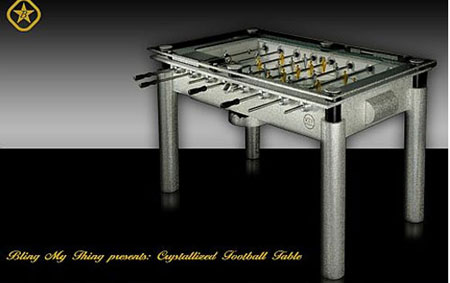 Crystallized Foosball Table From Bling My Thing