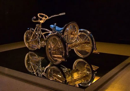 Bejeweled Custom Lowrider Bicycle OR Midas Slapped Tricycle?