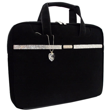 Paris 'Swarovski' Laptop Bag