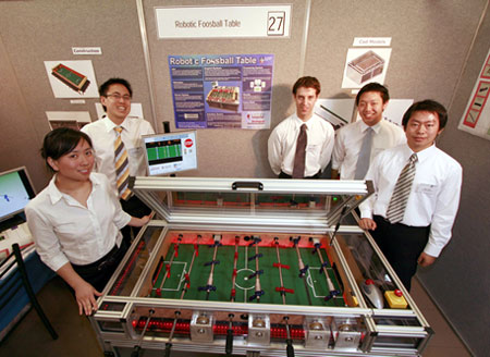Robotic Foosball Table Engages Spectators As Well!
