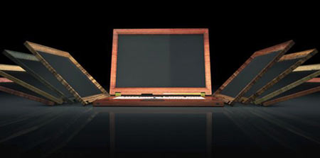 Singulum Wooden Notebooks, Gold Bathed Keyboards Breed Luxury