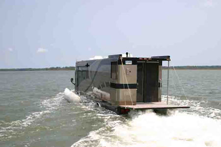 Terra Wind Amphibious RV Cum Yacht Offers Ride On water