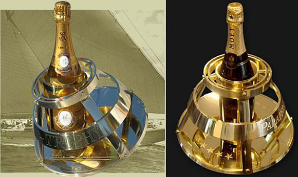 Gimaballed Champagne Holder: For a Hedonistic Yacht & You!