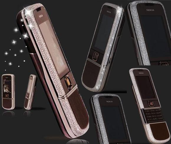 Diamond Encrusted Nokia 8800 Sapphire Arte by Knalihs Athem Nokia 8800 Sapphire Arte, Knalihs Athem, Diamond Edition Nokia 8800 Sapphire Arte, Nokia, Cell phone, Mobile Phone, Designer, Luxury, Luxury Brand, Swiss designer, Athem
