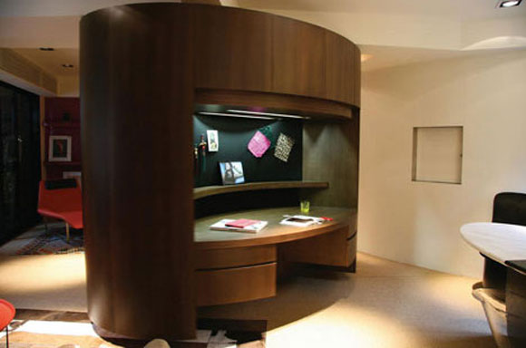 Apartment Features 360-Degrees Elliptical Cabinet From FAK3