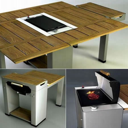 Grill Dining Table Concept Integrates Cooking System!