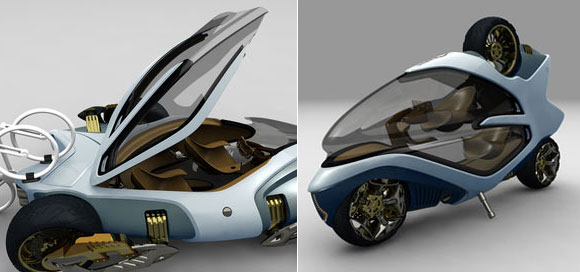magic tricycle Magic Tricycle Cum Motorbike Concept For Tough Roads
