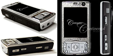 Diamond Slapped Nokia N95 from Continental Mobiles Costs $20,000