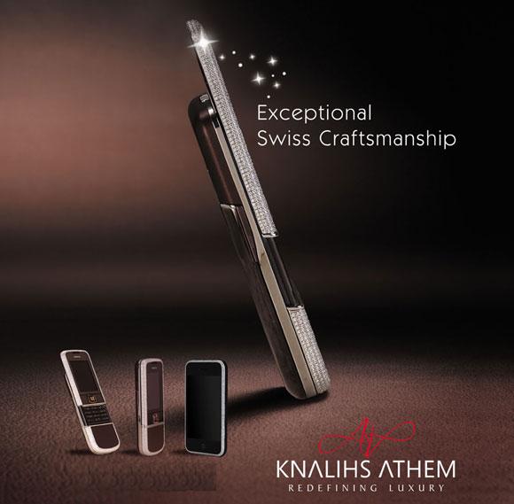 Diamond Encrusted Nokia 8800 Sapphire Arte by Knalihs Athem