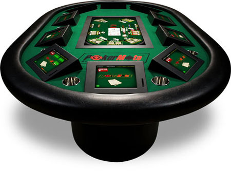 PokerMate Touchscreen Poker Table from Amaya Gaming