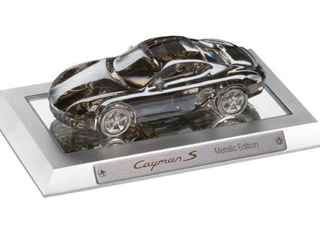 "Modellino Swarovski Porsche Cayman ""Metallic Edition"""
