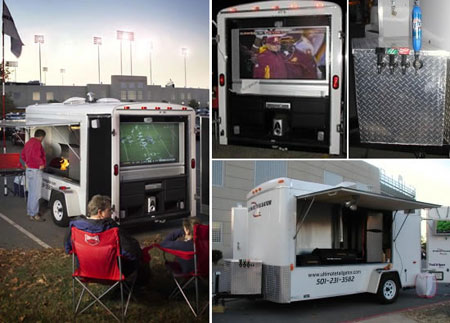 All Star Tailgating Trailer Allows Party On Wheels!