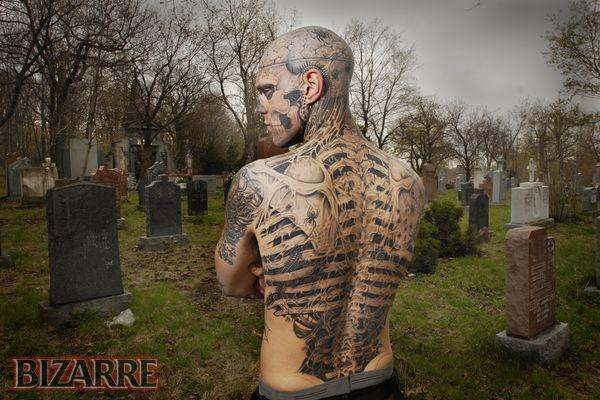 zombie boy $4000 Tattooed Zombie, Courtesy Bizarre Magazine