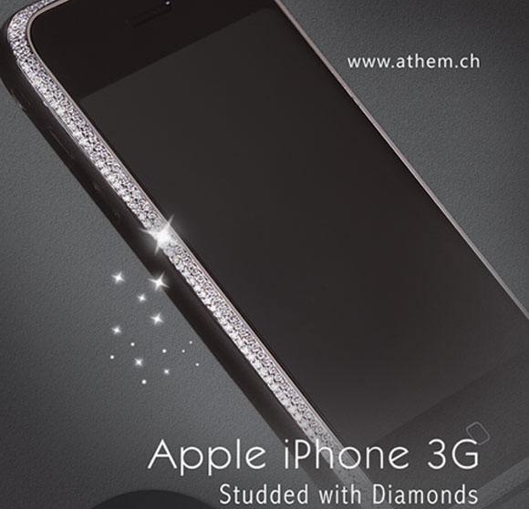 Knalihs Athem Unveils Diamond Studded iPhone 3G