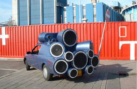Mobile DJ Car: An Artwork or Speaker Rocket Ship