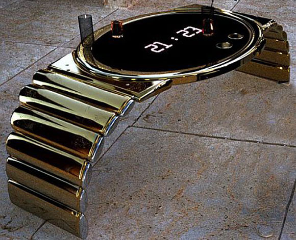 Gold Wristwatch Table