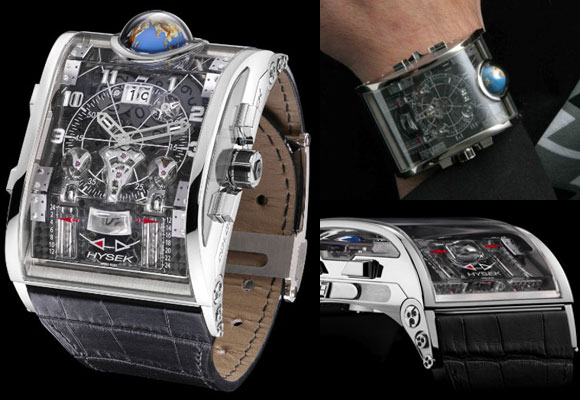 $550,000 Hysek Colosso Timepiece Features Earth Spin Via Globe