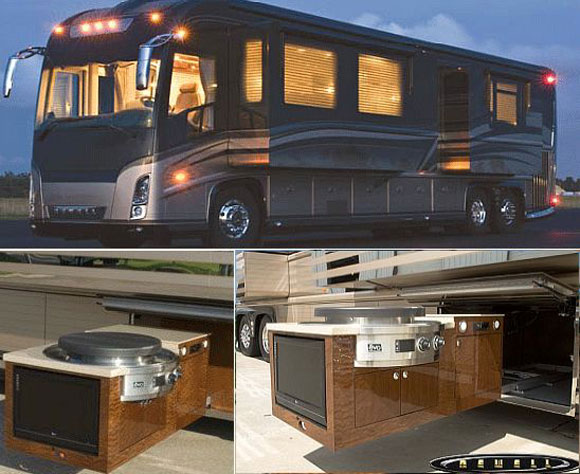 Newell Coach Motorhome Gets Evo Affinity 25E Cook Top