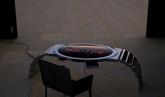Rowland Art Engineering Unveils LED Clock Table