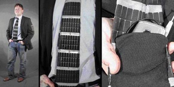 Solar Powered Necktie For Professionals
