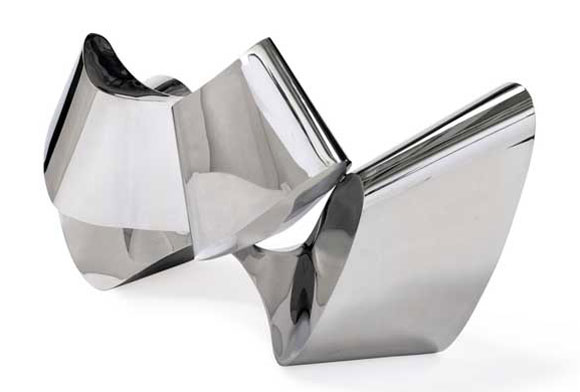 $300,000 Mirror-Polished Stainless Steel Sofa by Ron Arad