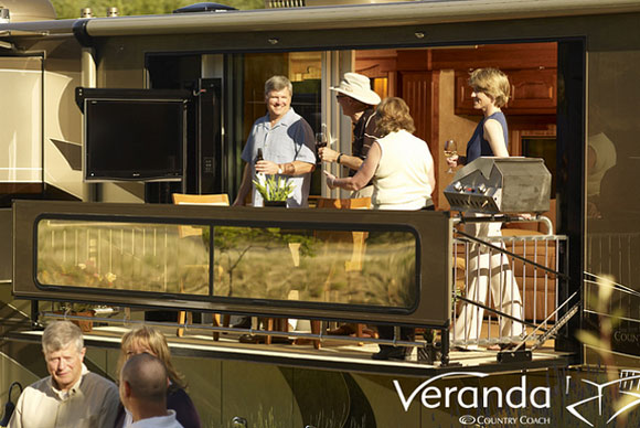 veranda coach Verdanas Motor Home Flaunts a Motorized Private Balcony