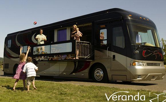Verdana 39 s motor home flaunts a motorized private balcony for Elite fish house