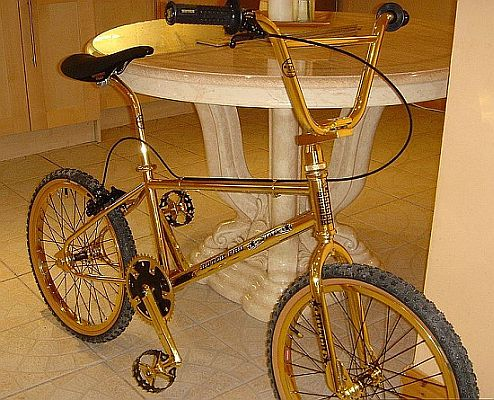 Go Green With Worlds Most Expensive Bike, All in Gold