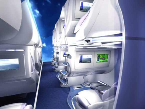 Double Decker Seating System for Wide-Body Aircraft