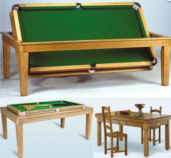 Dining table billiard table converts dining table - Billard transformable table ...