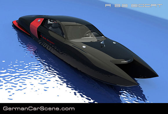 Environment-Friendly Biocat Catamaran: Ferrari Style