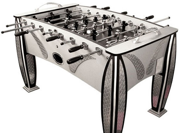 diamond plate foosball tabl The Diamond Plate Foosball Table: Play in luxury