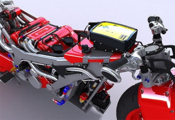 Ferrari Motorcycle in the Making!