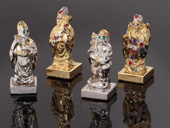 The Art Of War: Gold and Jeweled Chess Set