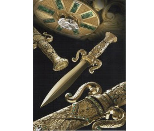 Worlds Most Expensive Knife Adorned With Emeralds and Diamonds