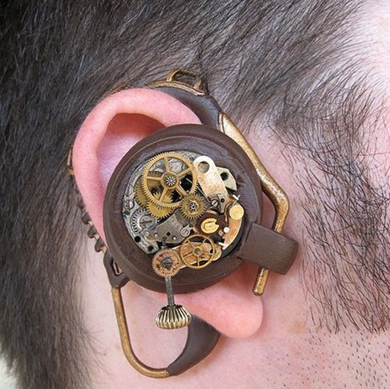 Bluetooth Ear Piece With Steampunk Touch