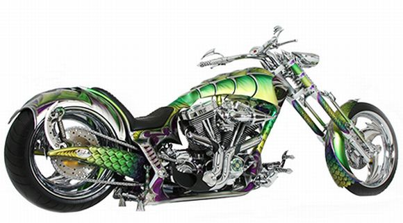 Riding the Dragon: Custom Crafted Bike with Wicked Looks and Crocodile Skin!
