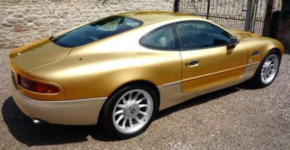 Premium Bond: Aston Martin DB7 Clad in Gold!