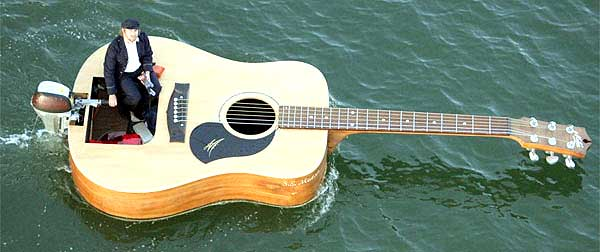 Guitar Boat: Courtesy Josh Pyke