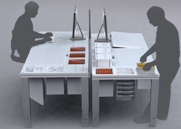 'Out of Sight Out of Mind' Modular Table Concept