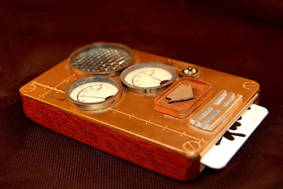 Steampunk Phone Takes You Back to the  Punch Card Age