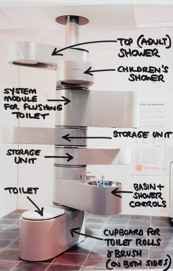 Vertical Bathroom to Clear Space Crunch!