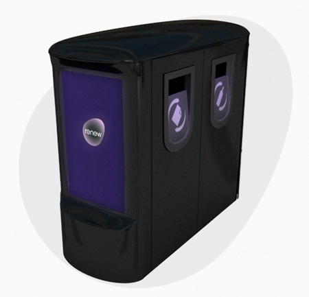 Bombproof Bins: Trash Bins that absorb explosion impact and display news!