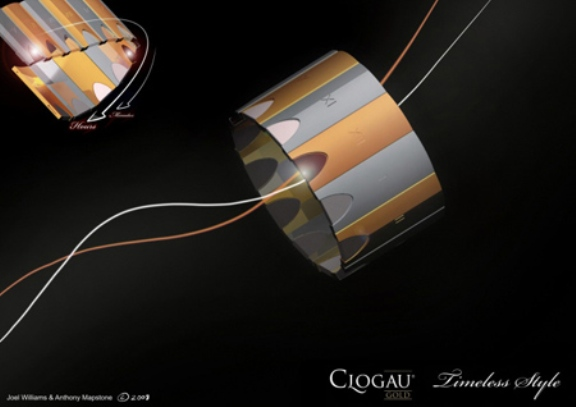 Futuristic Time-Keeping Jewelry for Clogau Gold Brand