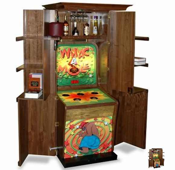 gaming shelf Personalized Whac A Mole Game: Take out your frustration in a secretive style!
